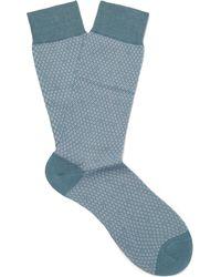 Pantherella - Dalby Patterned Cotton-blend Lisle Socks - Lyst