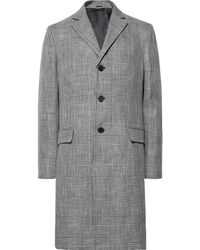 Acne Studios - Mawin Prince Of Wales Checked Linen-blend Coat - Lyst