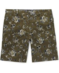 Club Monaco - Maddox Floral-print Linen And Cotton-blend Shorts - Lyst