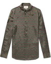 7dd960936 Gucci Men's Multicolor Panther-print Silk Shirt in Black for Men - Lyst