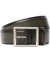 Berluti - 4cm Green Polished-leather Belt - Lyst