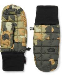 The North Face - Camouflage-printed Quilted Shell Thermoball Mittens - Lyst