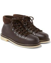 Loro Piana - Laax Full-grain Leather Boots - Lyst