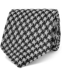 Tom Ford - 8cm Dogtooth Silk And Linen-blend Tie - Lyst