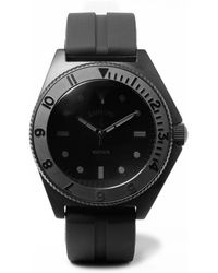 Bamford Watch Department - - Mayfair Stainless Steel And Rubber Watch - Black - Lyst
