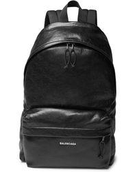 Balenciaga - Explorer Arena Logo-print Creased-leather Backpack - Lyst