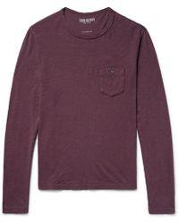 Todd Snyder - Garment-dyed Slub Cotton-jersey T-shirt - Lyst