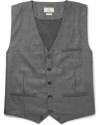 Hackett - Slim-fit Puppytooth Wool Waistcoat - Lyst