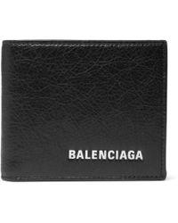 Balenciaga - Arena Logo-print Creased-leather Billfold Wallet - Lyst