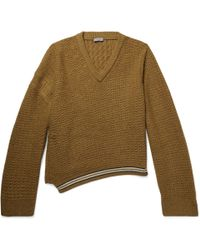 Lanvin - Oversized Wool And Alpaca-blend Jumper - Lyst