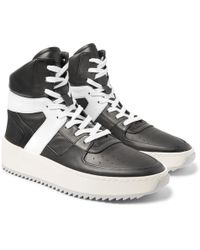 Fear Of God - Basketball Panelled-leather High-top Sneakers - Lyst
