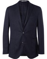 Boglioli - Blue Slim-fit Wool-hopsack Blazer - Lyst