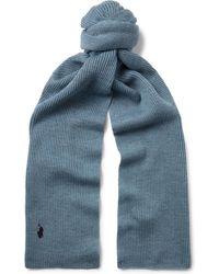 Polo Ralph Lauren - Ribbed Merino Wool Scarf - Lyst