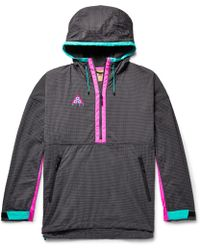 Nike - Acg Colour-block Nylon-blend Ripstop And Shell Hooded Jacket - Lyst