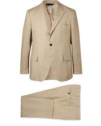 Mp Massimo Piombo - Stone Emile Slim-fit Unstructured Linen Suit - Lyst
