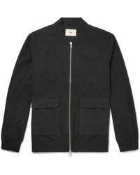 Folk - Cotton-twill Bomber Jacket - Lyst