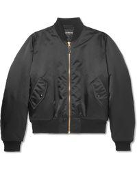 Balenciaga - Oversized Embroidered Satin Bomber Jacket - Lyst