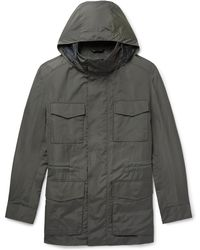 Brioni - Shell Hooded Field Jacket With Detachable Quilted Gilet - Lyst