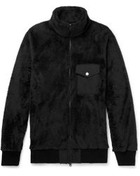 Battenwear - Faille-trimmed Fleece Zip-up Jumper - Lyst