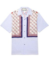 8d6d31098 Gucci Camp-collar Floral-print Silk Shirt in Red for Men - Lyst