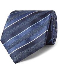Brioni - 8cm Striped Silk-jacquard Tie - Lyst
