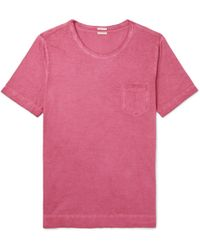 Massimo Alba - Panarea Slim-fit Garment-dyed Cotton-jersey T-shirt - Lyst