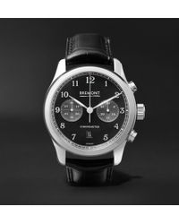 Bremont - Alt1-classic/pb Automatic Chronograph 43mm Stainless Steel And Alligator Watch - Lyst