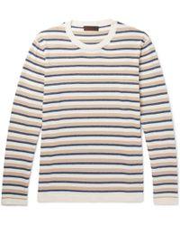 Altea - Striped Cotton Jumper - Lyst