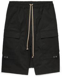 Rick Owens Pod Stretch-cotton Cargo Shorts