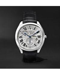 Cartier - Drive De Automatic 40mm Steel And Alligator Watch - Lyst