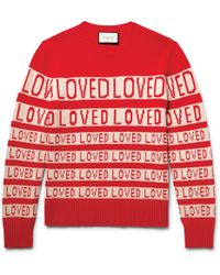 Gucci | Loved Slim-fit Wool-jacquard Jumper | Lyst