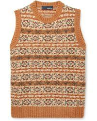 Lardini - Fair Isle Wool-blend Sweater Vest - Lyst