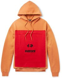 Balenciaga - Oversized Appliquéd Fleece-back Cotton-blend Jersey Hoodie - Lyst