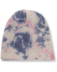 The Elder Statesman - Watchman Tie-dyed Ribbed Cashmere Beanie - Lyst
