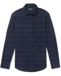 Polo Ralph Lauren - Checked Brushed Cotton-flannel Overshirt - Lyst