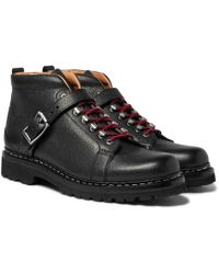 Heschung - Richmond Pebble-grain Leather Hiking Boots - Lyst