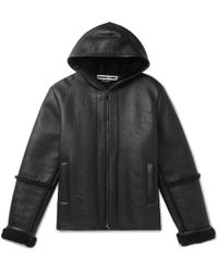 McQ - Shearling Hooded Jacket - Lyst