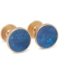 Alice Made This - Bayley Gold-tone Prussian Patina Cufflinks - Lyst