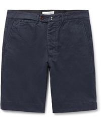 Officine Generale - Fisherman Cotton-twill Shorts - Lyst
