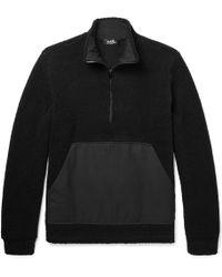 A.P.C. - Summit Textured Wool-blend Half-zip Jumper - Lyst