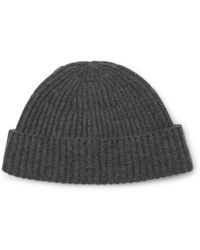 Brunello Cucinelli - Ribbed Mélange Cashmere Beanie - Lyst