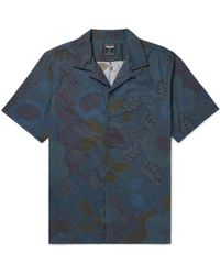 Todd Snyder - Slim-fit Camp-collar Printed Cotton Shirt - Lyst