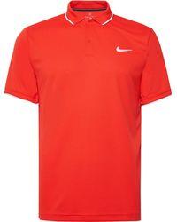 a68789b20 Nike Nikecourt Dry Advantage Dri-fit Piqué Tennis Polo Shirt in White for  Men - Lyst