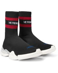 Vetements - + Reebok Sock Pump Stretch-knit Sneakers - Lyst
