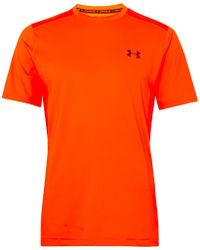 Under Armour - Raid Mesh-panelled Heatgear T-shirt - Lyst