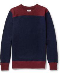 Visvim - Colour-block Wool Sweater - Lyst