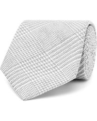 Hackett - 8cm Prince Of Wales Checked Cotton And Silk-blend Tie - Lyst