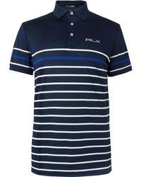 RLX Ralph Lauren - Striped Tech-piqué Polo Shirt - Lyst