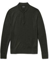 Club Monaco | Slim-fit Merino Wool Half-zip Jumper | Lyst
