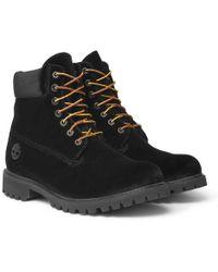 Off-White c/o Virgil Abloh - + Timberland Velvet Boots - Lyst